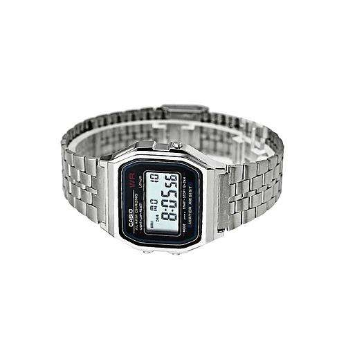 Casio Vintage A159WA-N1 Silver Stainless Watch For Men and Women