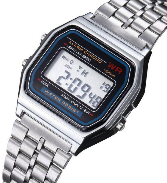 Casio Vintage A159WA-N1 Silver Stainless Watch For Men and Women - Watchportal Philippines