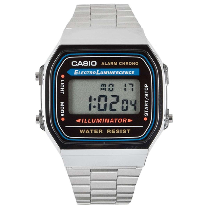 Casio A168WA-1UWD Silver Stainless Watch for Men and Women