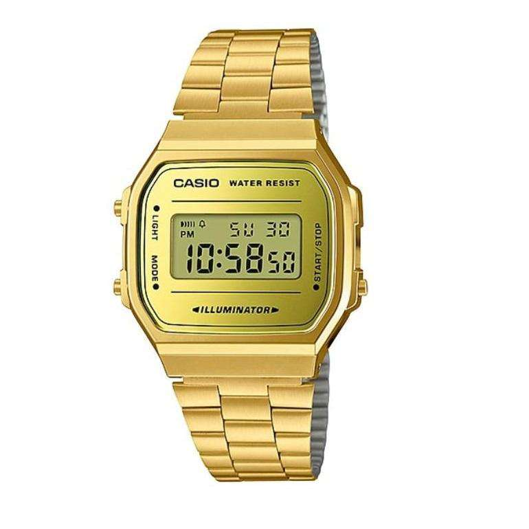 Casio A168WEGM-9DF Gold Stainless Watch for Men and Women