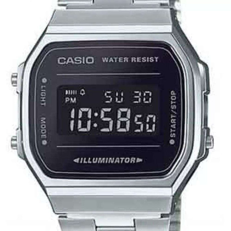 Casio A168WEM-1DF Silver Stainless Watch Unisex