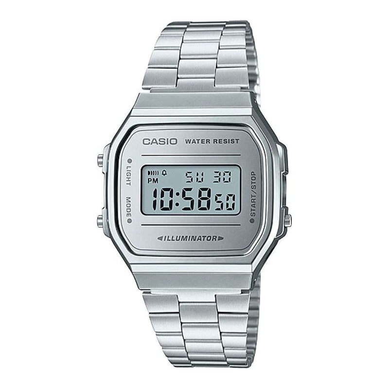 Casio A168WEM-7DF Silver Stainless Watch Unisex