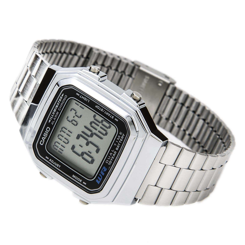Casio Vintage A178WA-1A Silver Stainless Steel Watch Unisex