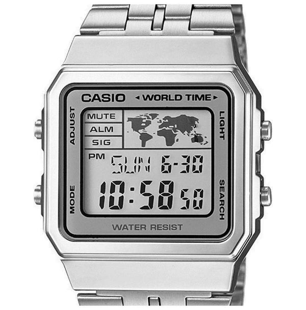 Casio Vintage A500WA-7D Silver Stainless Watch Unisex
