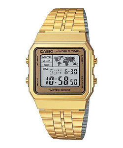Casio Vintage A500WGA-9D Gold Plated Watch Unisex