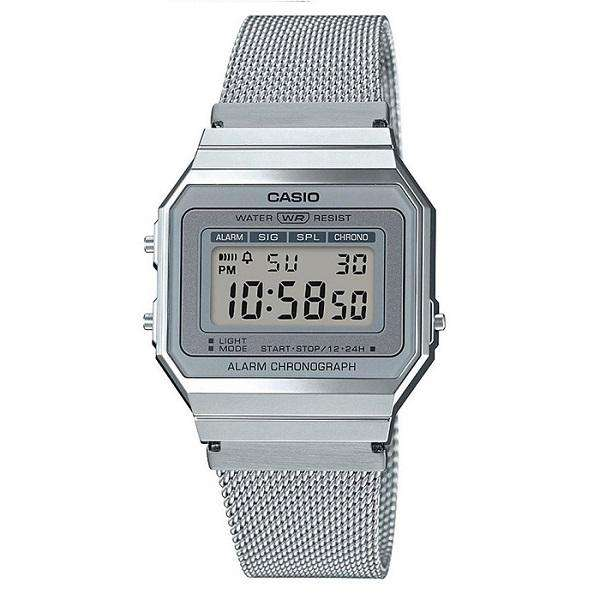 Casio A700WM-7A Silver Stainless Mesh Watch for Men and Women