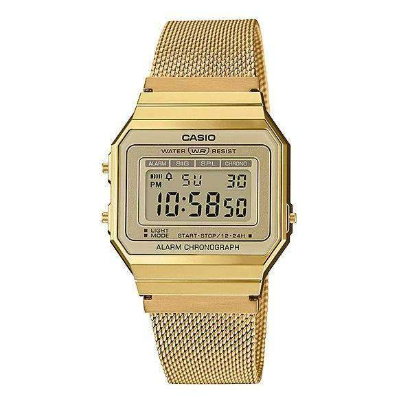 Casio A700WMG-9A Gold Stainless Mesh for Men and Women
