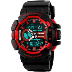 SKMEI AD1117 Red with Resin Strap Watch for Men - Watchportal Philippines