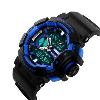 SKMEI AD1117 Blue with Resin Strap Watch for Men - Watchportal Philippines