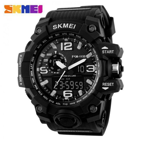 SKMEI AD1155 Gold with Silicon Strap Watch for Men