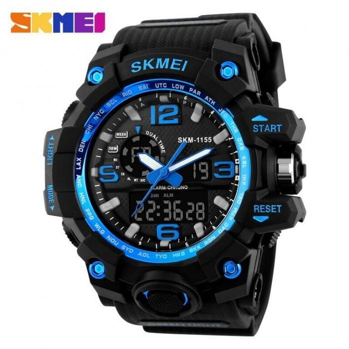 SKMEI AD1155 Blue with Silicon Strap Watch for Men - Watchportal Philippines