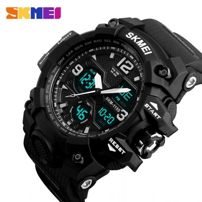 SKMEI AD1155 Black Silicon Strap Watch for Men - Watchportal Philippines