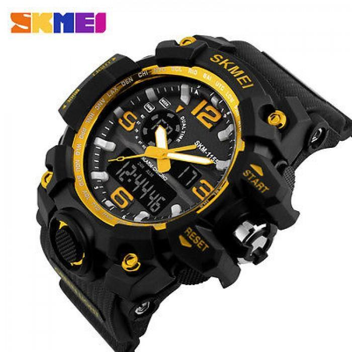SKMEI AD1155 Gold with Silicon Strap Watch for Men - Watchportal Philippines