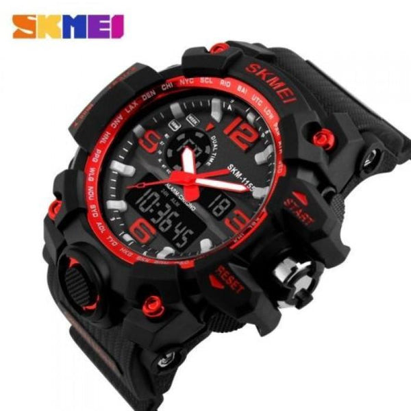 SKMEI AD1155 Red with Silicon Strap Watch for Men - Watchportal Philippines