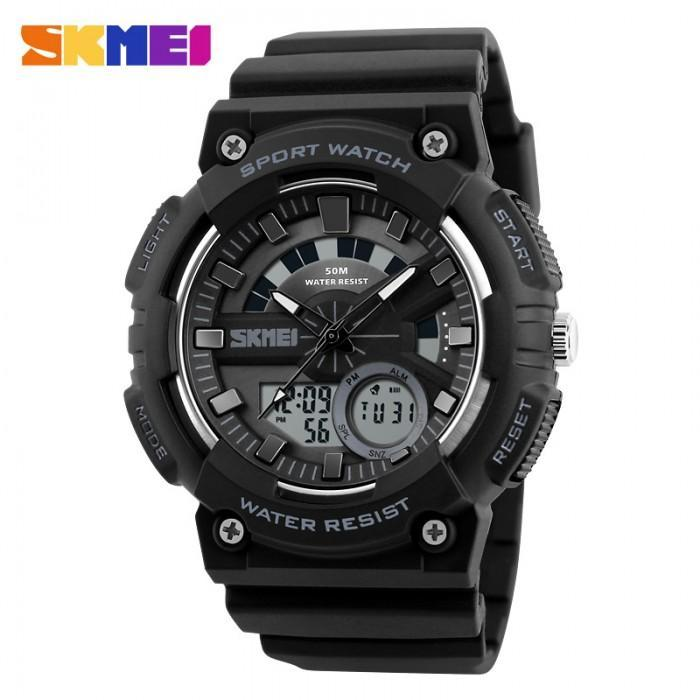 SKMEI AD1235 Black Rubber Strap Watch for Men - Watchportal Philippines