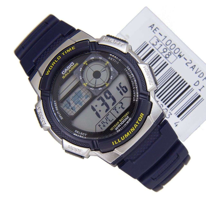 Casio AE-1000W-2A Navy Blue Resin Strap Watch for Men