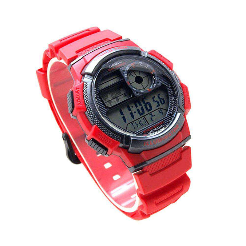 Casio AE-1000W-4A Red Resin Strap Watch for Men