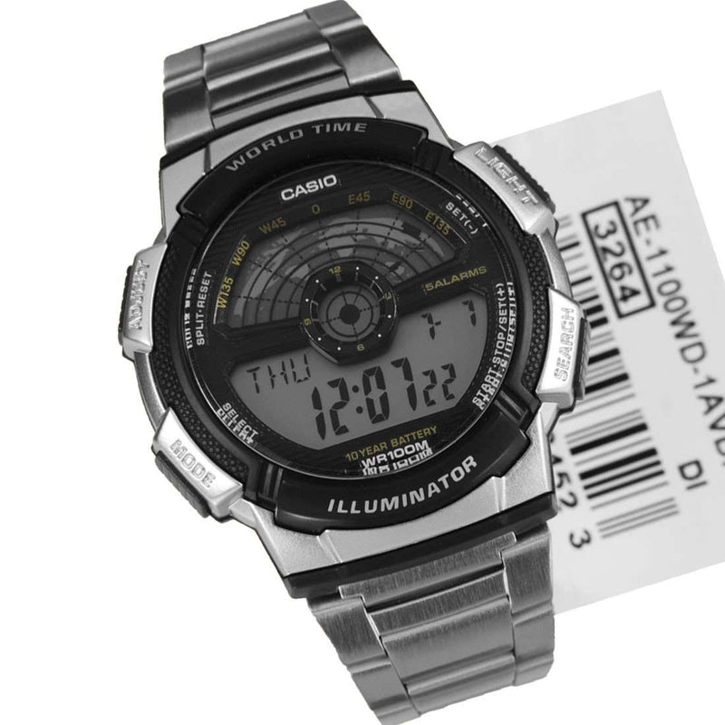 Casio AE-1100WD-1AVDF Silver Stainless Watch For Men