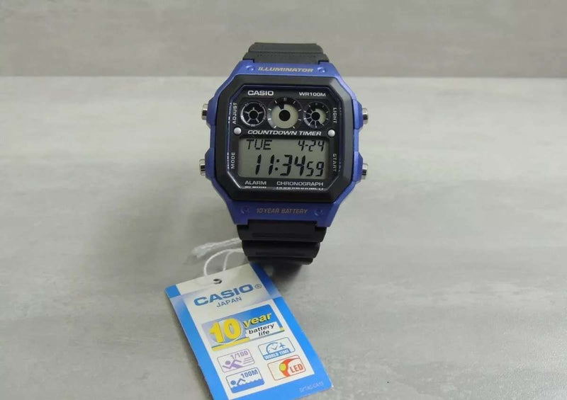 Casio AE-1300WH-2A Black Resin Strap Watch for Men