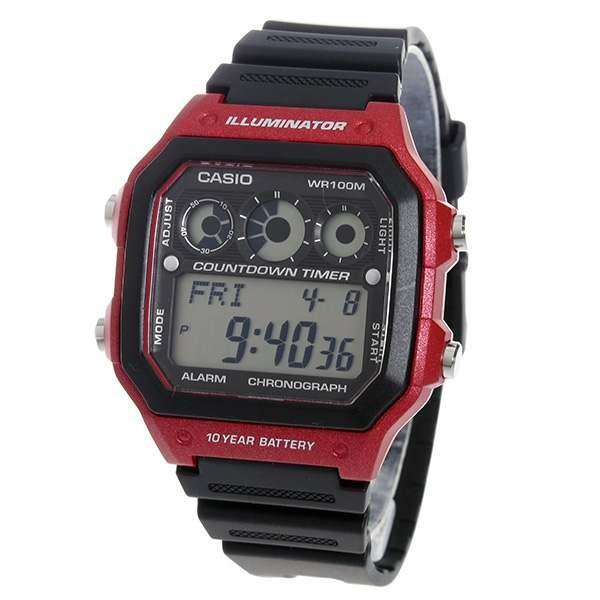Casio AE-1300WH-4A Black Resin Strap Watch for Men