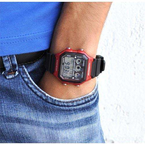 Casio AE-1300WH-4A Black Resin Strap Watch for Men - Watchportal Philippines