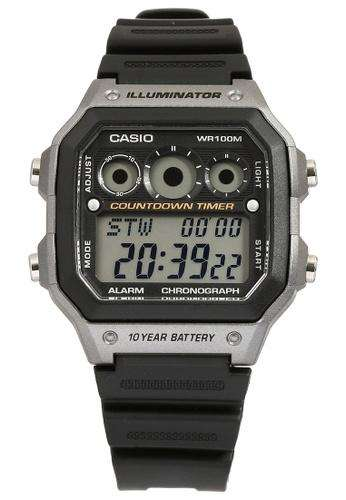 Casio AE-1300WH-8A  Black Resin Strap Watch For Men