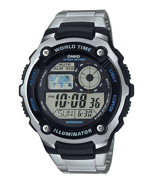 Casio AE-2100WD-1A Silver Stainless Watch Men