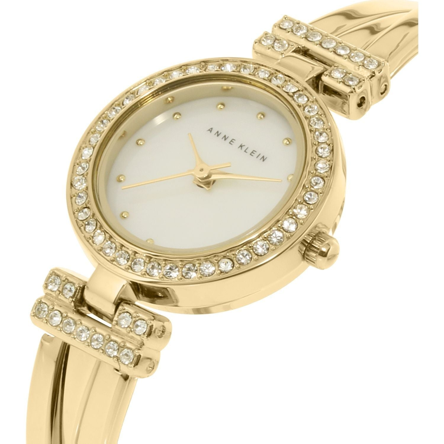 Anne Klein AK-1868GBST Gold-Tone Bangle & Bracelet Set Watch for Women - Watchportal Philippines