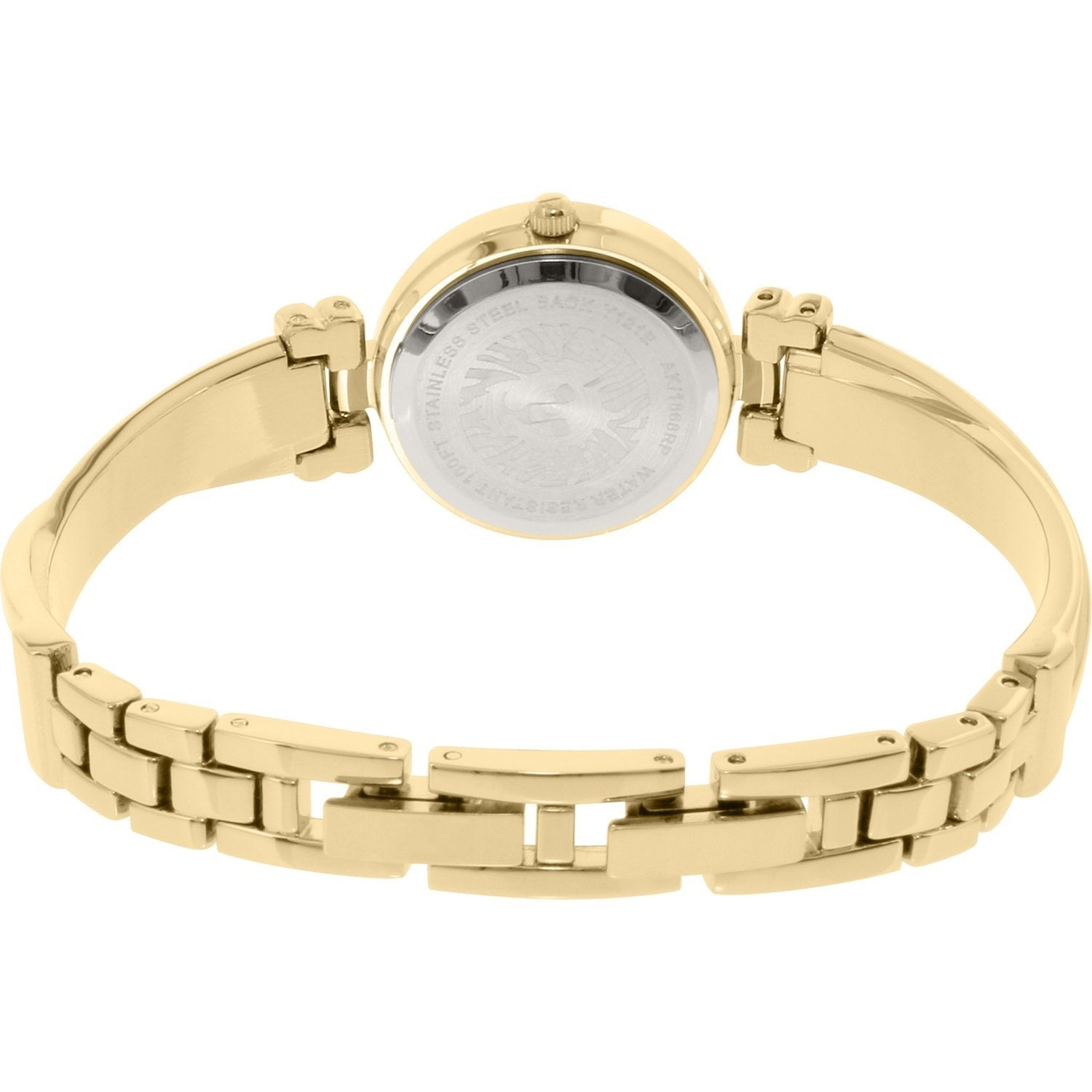 Anne Klein AK-1868GBST Gold-Tone Bangle and Bracelet Set Watch for Women - Watchportal Philippines