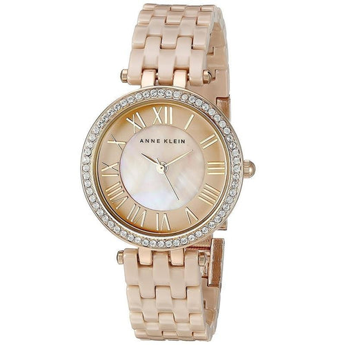 Anne Klein AK-2200TNGB Tan Ceramic Bracelet Watch for Women - Watchportal Philippines