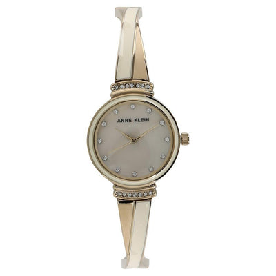 Anne Klein AK-2216IVGB Gold-Tone and Ivory Bangle Watch for Women - Watchportal Philippines