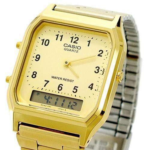 Casio Vintage AQ-230GA-9B Gold Plated Watch for Men and Women - Watchportal Philippines