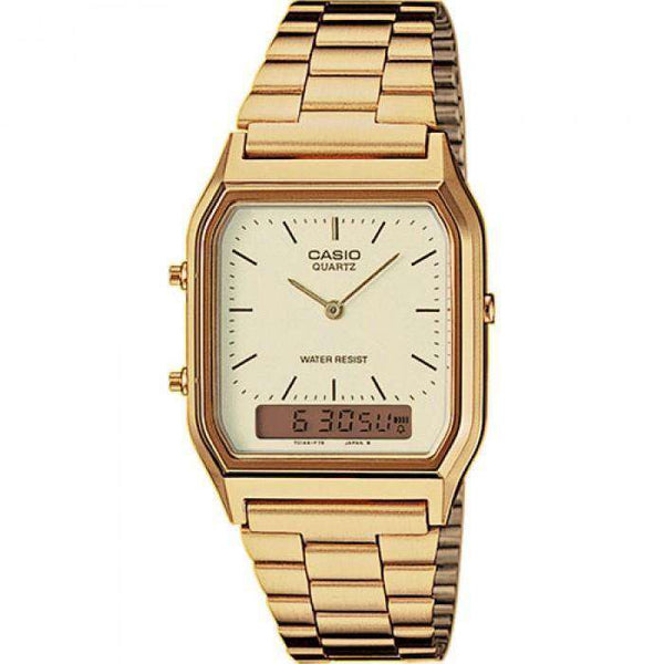 Casio Vintage AQ-230GA-9D Gold Plated Watch for Men and Women - Watchportal Philippines