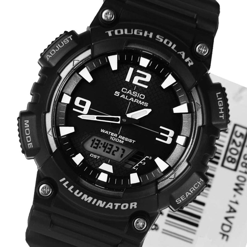 Casio AQ-S810W-1A Black Solar Powered Watch for Men
