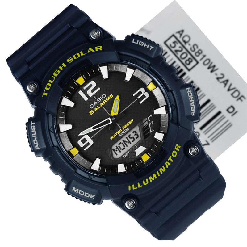 Casio AQ-S810W-2A Blue Solar Powered Watch for Men