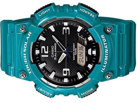 Casio AQ-S810WC-3A Blue Solar Powered Watch for Men