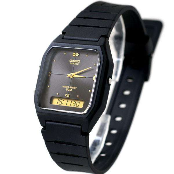 Casio AW-48HE-1AVDF All Black Resin Watch for Men and Women