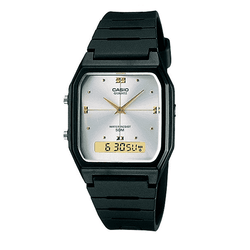 Casio AW-48HE-7AVDF Black Resin Watch for Men and Women