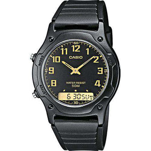 Casio AW-49H-1BVDF Black Resin Watch for Men and Women