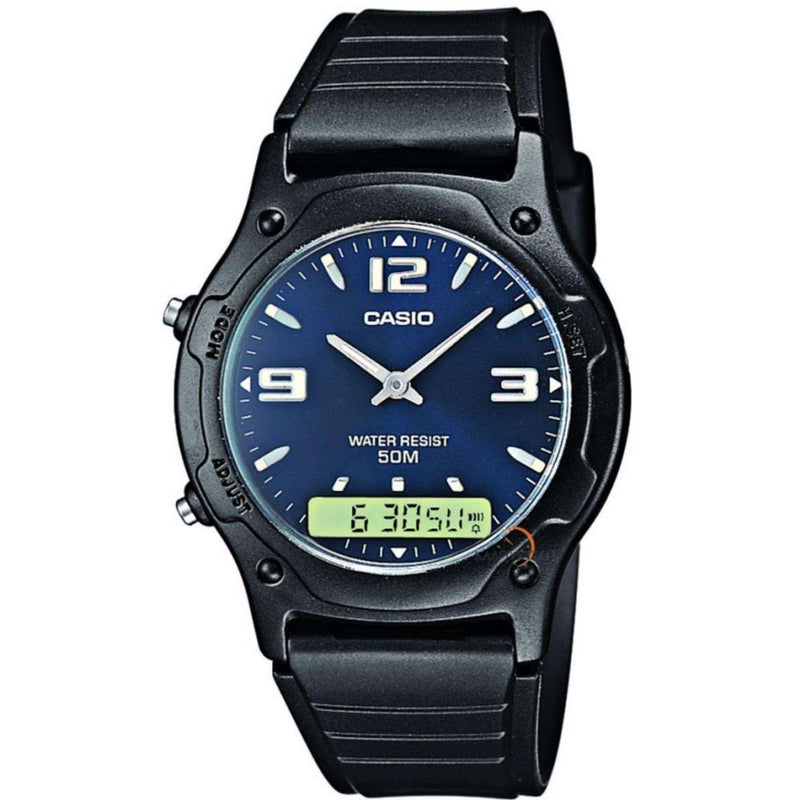 Casio Standard AW-49HE-2AVDF Black Resin Strap Watch for Men