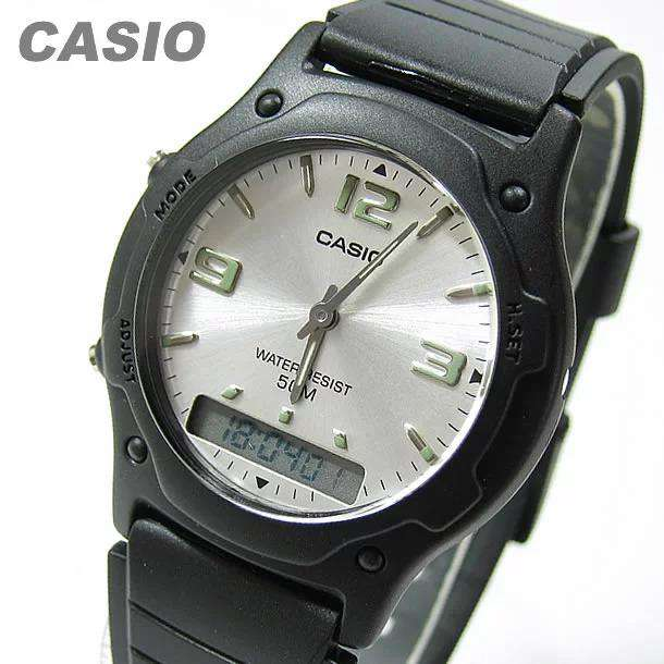 Casio Standard AW-49HE-7AVDF Black Resin Strap Watch for Men