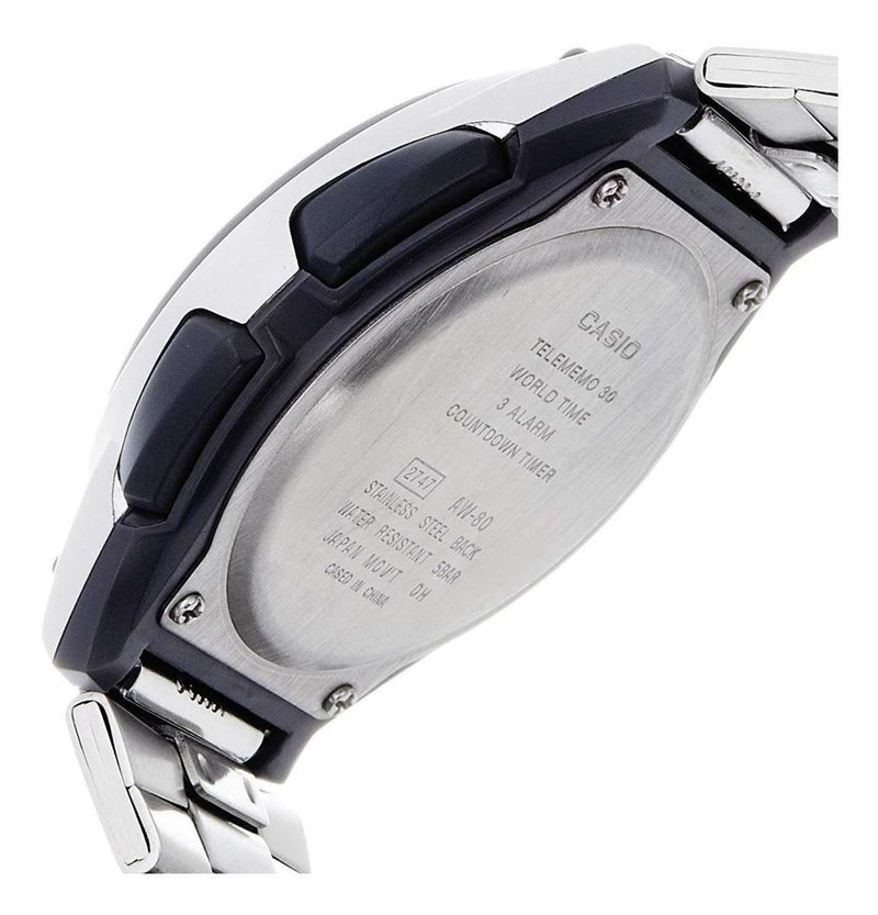 Casio AW-80D-1A2 Silver Stainless Watch for Men