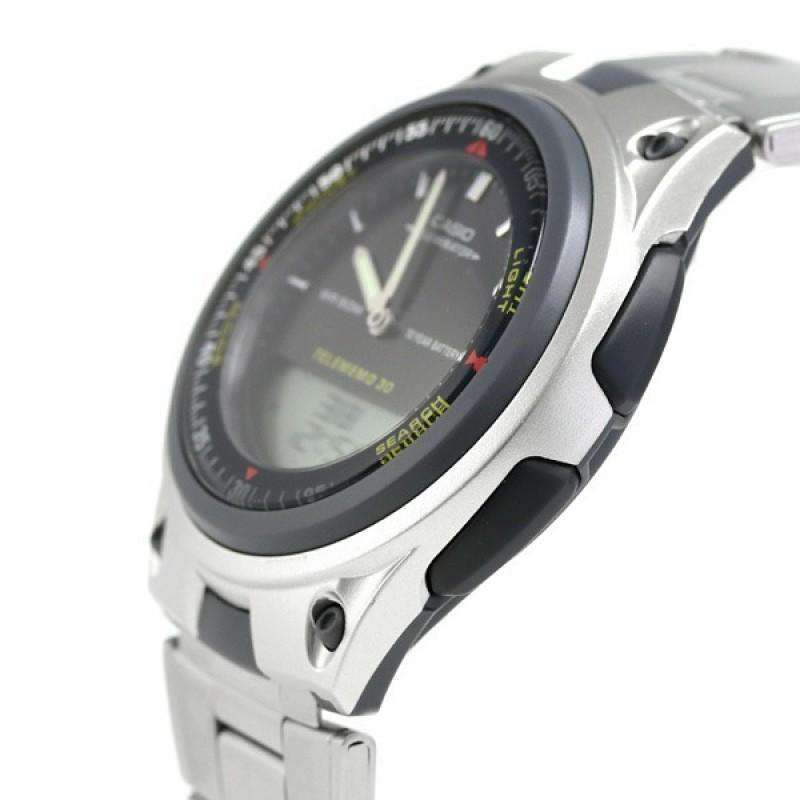 Casio Standard Men's Silver Stainless Steel Strap Watch- AW-80D-1AVDF