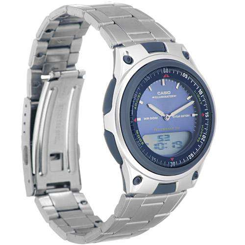Casio Standard Men's Silver Stainless Steel Strap Watch- AW-80D-2AVDF