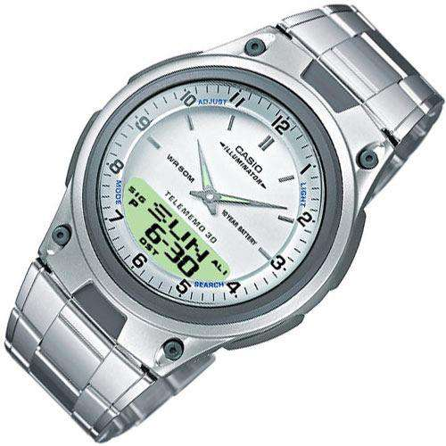 Casio AW-80D-7AVDF Silver Stainless Steel Strap Watch for Men