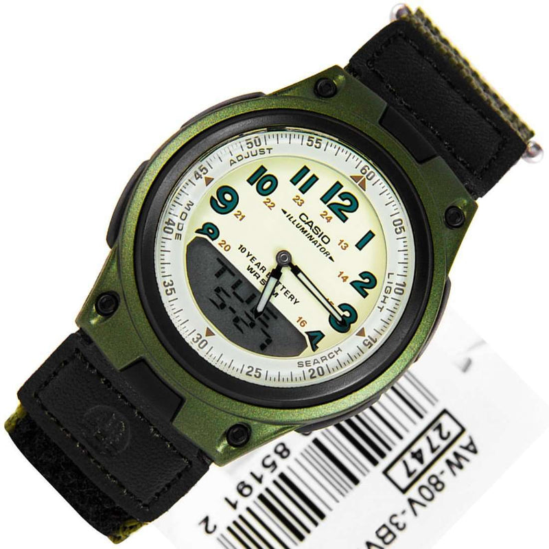 Casio AW-80V-3BVDF Green Nylon Watch For Men and Women