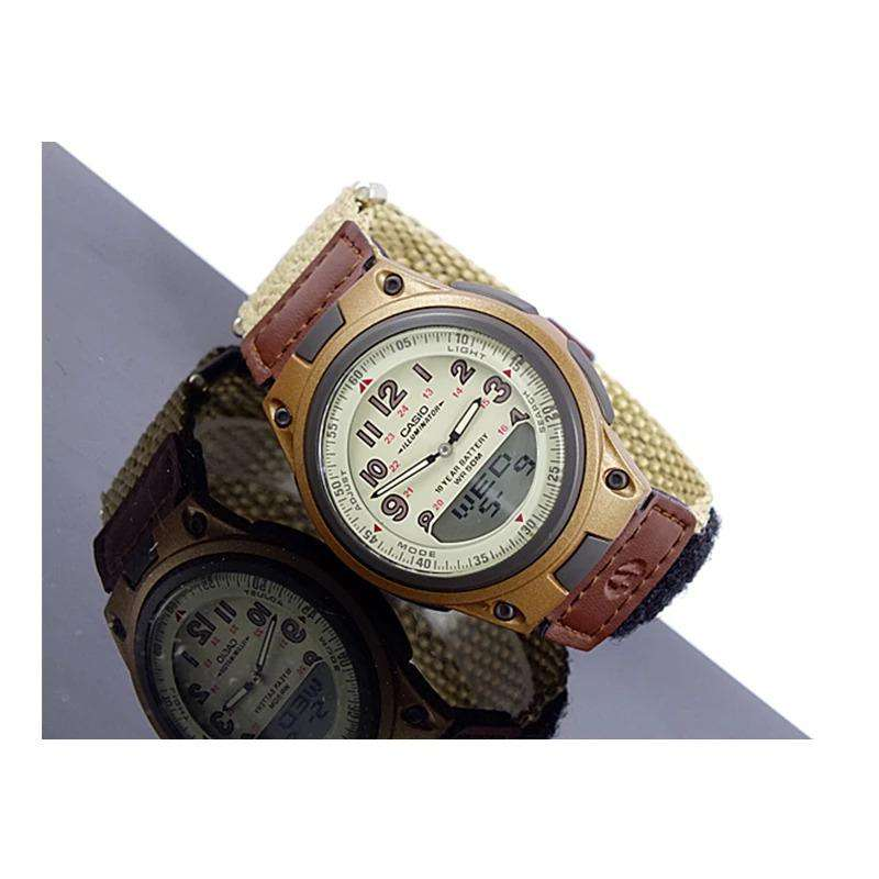 Casio AW-80V-5BVDF Brown Nylon Watch for Men and Women