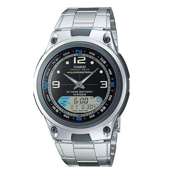 Casio AW-82D-1AV Silver Stainless Steel Strap Watch for Men