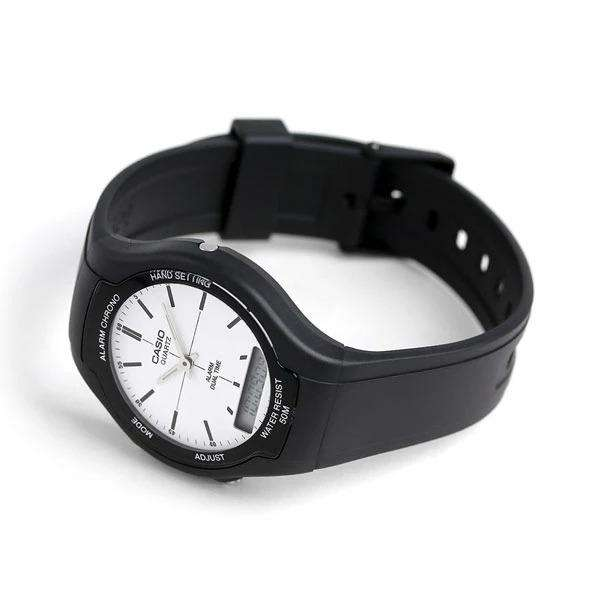 Casio AW-90H-7EVDF Black Resin Watch for Men and Women