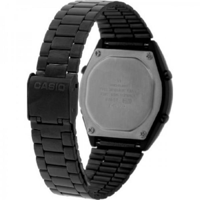 Casio Vintage B640WB-1A Black Stainless Steel Watch For Men and Women - Watchportal Philippines